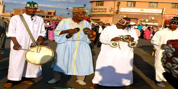 Musica Gnawa a Jemaa El Fna