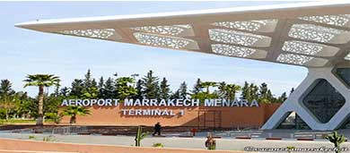 Passeggeri aeroporto Marrakech Menara