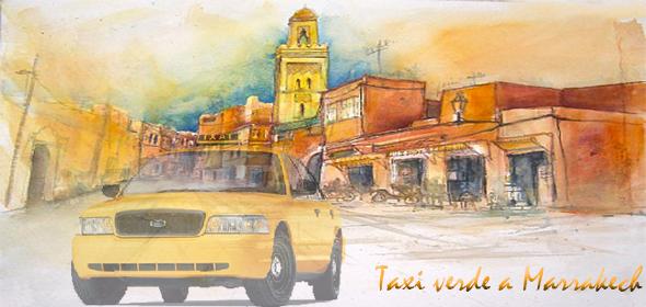 Taxi verdi a Marrakech