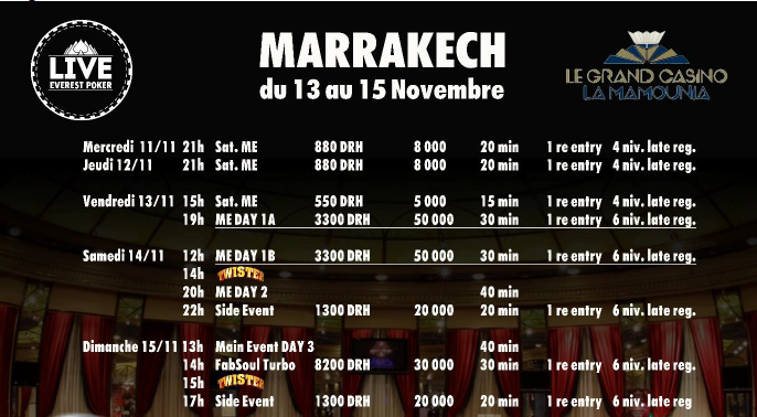 Vacanze Poker a Marrakech