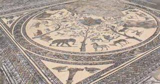 Mosaici romani a Volubilis Marocco uno