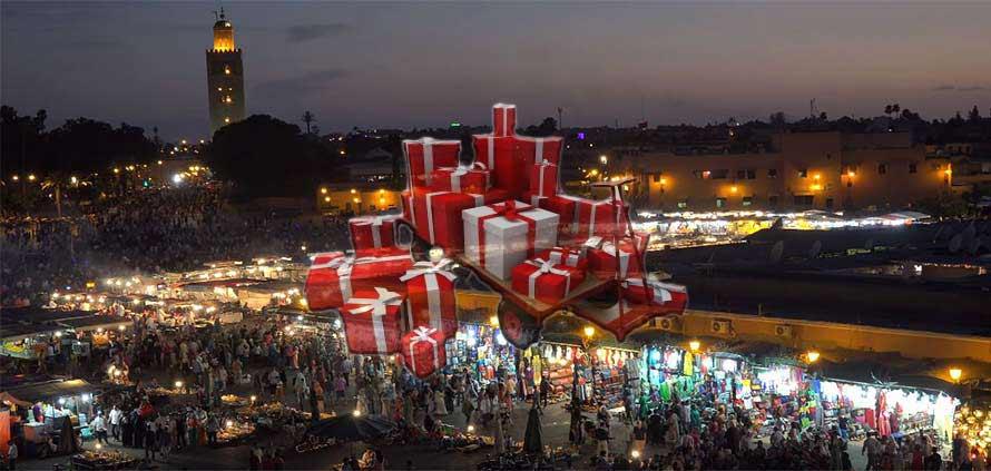Shopping natalizio a Marrakech