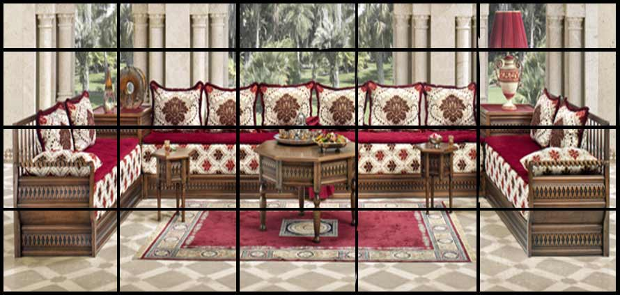 Il salone marocchino una speciale miscela di for Colori per salone
