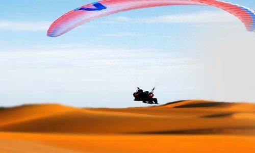 Deserto del Sahara in Parapendio
