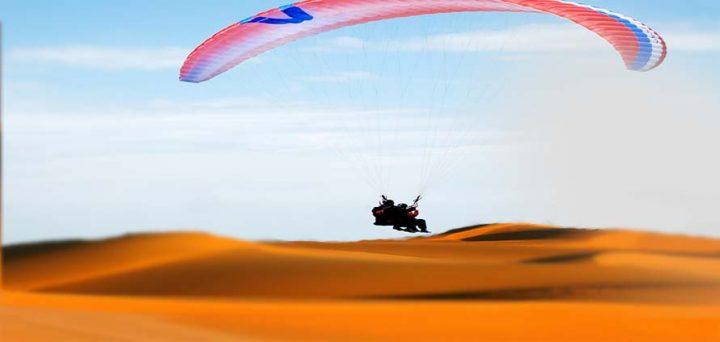 il deserto del Sahara in Parapendio