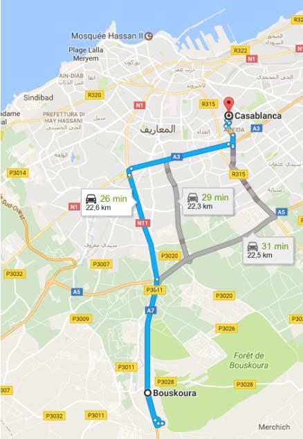 dove si trova il Motor Village di Casablanca