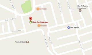 dove si trova piazza dei Ferblantiers Marrakech