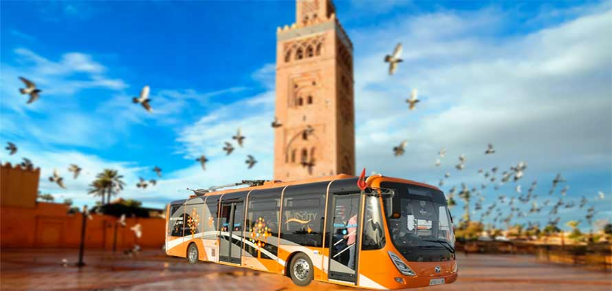 A Marrakech entrano in funzione Bus Elettrici