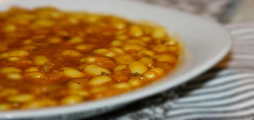 Loubia zuppa di fagioli della cucina marocchina
