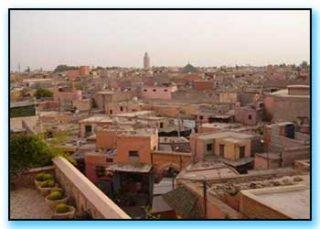 tetti della medina di marrakech