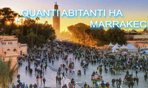 Quanti abitanti ha Marrakech ?