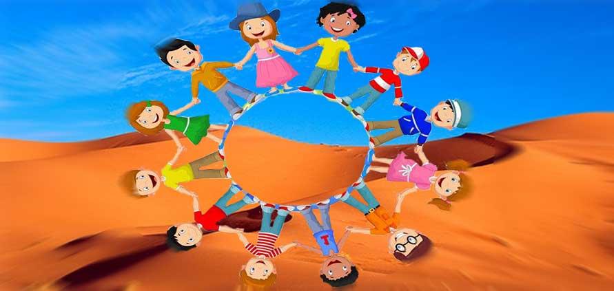 Deserto Marocco con bambini