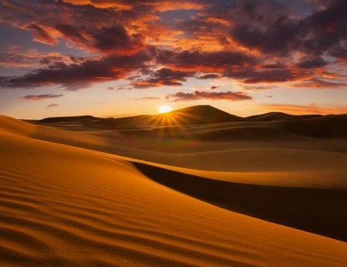 Nel deserto in estate