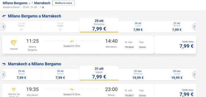 Ryanair voli per Marrakech